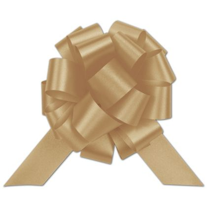 Gold Satin Perfect Pull Bows, 20 Loops, 5 1/2""