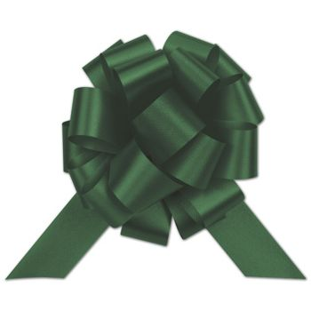 Hunter Green Satin Perfect Pull Bows, 20 Loops, 5 1/2""