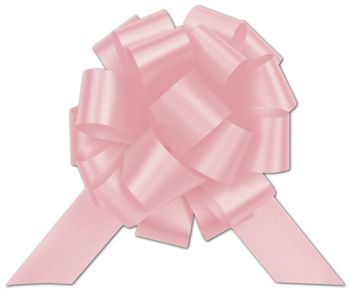 Light Pink Satin Perfect Pull Bows, 20 Loops, 5 1/2
