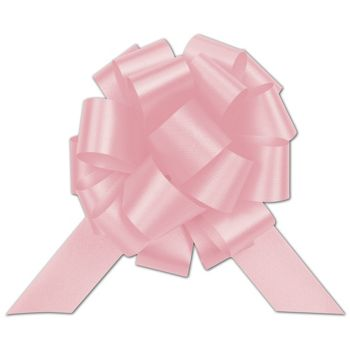 Light Pink Satin Perfect Pull Bows, 20 Loops, 5 1/2""