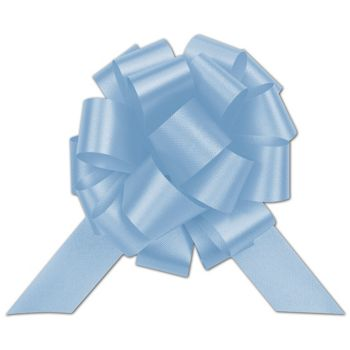 Light Blue Satin Perfect Pull Bows, 20 Loops, 5 1/2""