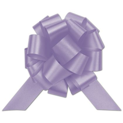 Lavender Satin Perfect Pull Bows, 20 Loops, 5 1/2""