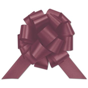 Burgundy Satin Perfect Pull Bows, 20 Loops, 5 1/2