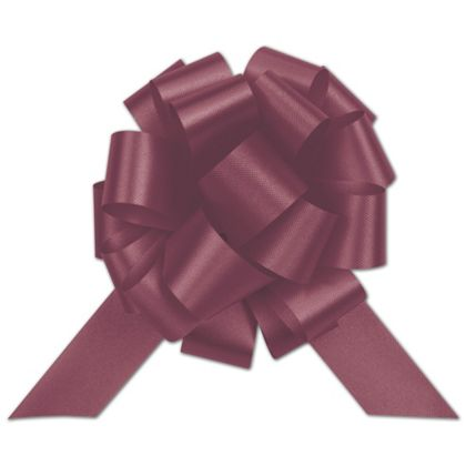 Burgundy Satin Perfect Pull Bows, 20 Loops, 5 1/2""