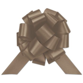 Chocolate Satin Perfect Pull Bows, 20 Loops, 5 1/2""