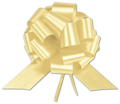 Yellow Satin Perfect Pull Bows, 20 Loops, 5 1/2""