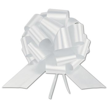 White Satin Perfect Pull Bows, 20 Loops, 5 1/2