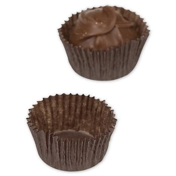 Brown Glassine Candy Cups, 1 1/4 x 3/4