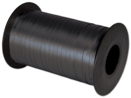 "Splendorette Curling Black Ribbon, 3/16"" x 500 Yds"