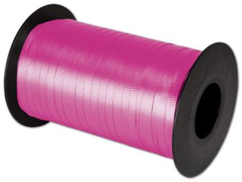 Splendorette Curling Cerise Ribbon, 3/16