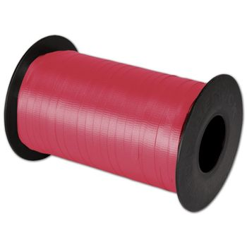 "Splendorette Curling Red Ribbon, 3/16"" x 500 Yds"