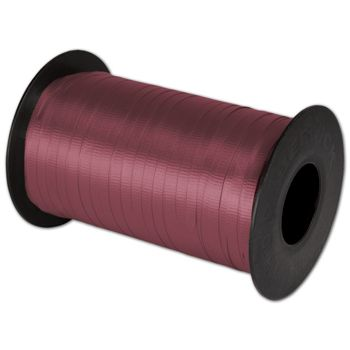 "Splendorette Curling Burgundy Ribbon, 3/16"" x 500 Yds"
