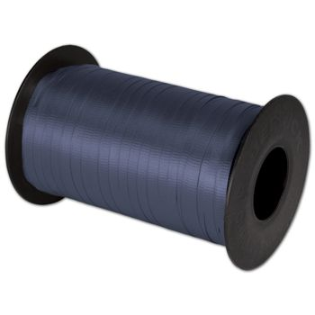Splendorette Curling Navy Ribbon, 3/16