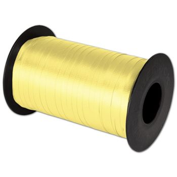 "Splendorette Curling Yellow Ribbon, 3/16"" x 500 Yds"