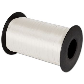 "Splendorette Curling White Ribbon, 3/16"" x 500 Yds"
