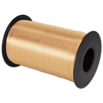 "Splendorette Curling Gold Ribbon, 3/8"" x 250 Yds"