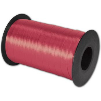 Splendorette Curling Red Ribbon, 3/8