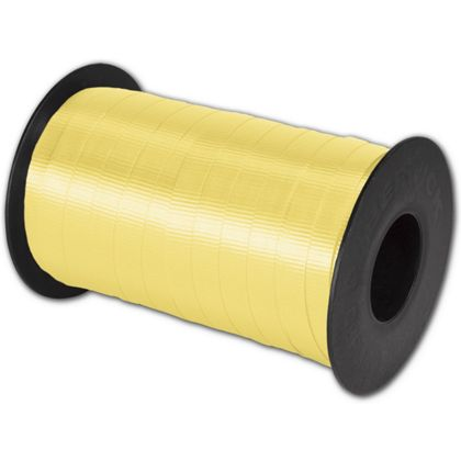 "Splendorette Curling Yellow Ribbon, 3/8"" x 250 Yds"