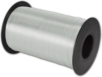 Splendorette Curling Silver Ribbon, 3/8