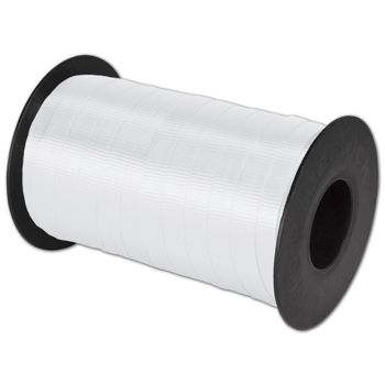 "Splendorette Curling White Ribbon, 3/8"" x 250 Yds"