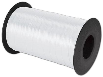 """Splendorette Curling White Ribbon, 3/8"""" x 250 Yds"""