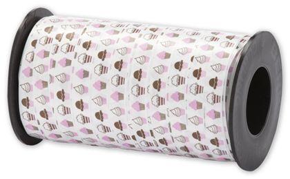 "Splendorette Curling Cupcakes Ribbon, 3/8"" x 250 Yds"
