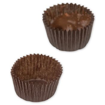 Brown Glassine Candy Cups, 1 1/8 x 3/16