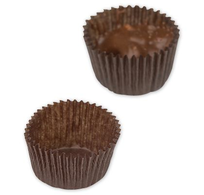 Brown Glassine Candy Cups, 1 1/8 x 3/16""