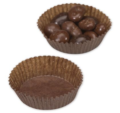Brown Glassine Candy Cups, 1 3/4 x 5/8""