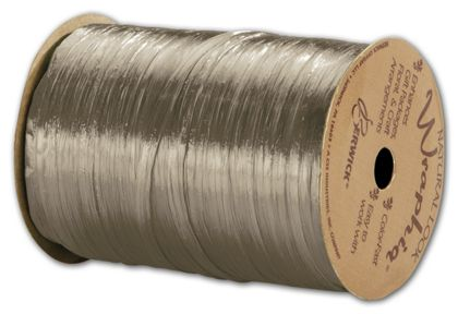 "Pearlized Wraphia Taupe Ribbon, 1/4"" x 100 Yds"