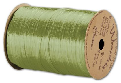 "Pearlized Wraphia Jungle Green Ribbon, 1/4"" x 100 Yds"