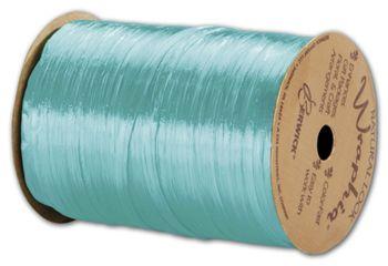 Pearlized Wraphia Robin's Egg Blue Ribbon, 1/4x100 Yds