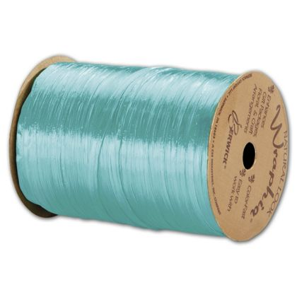 Pearlized Wraphia Robin's Egg Blue Ribbon, 1/4x100 Yds