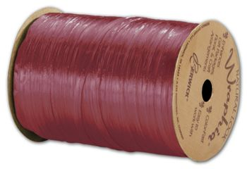 Pearlized Wraphia Red Raspberry Ribbon, 1/4