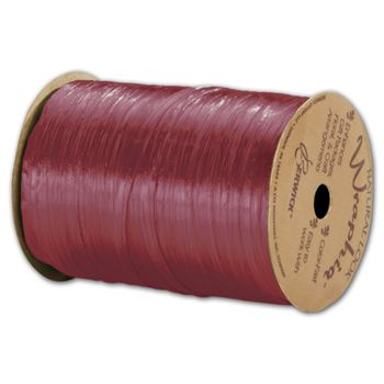"Pearlized Wraphia Red Raspberry Ribbon, 1/4"" x 100 Yds"