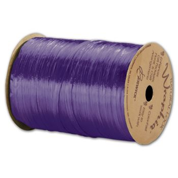 "Pearlized Wraphia Purple Ribbon, 1/4"" x 100 Yds"