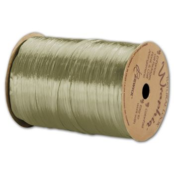 "Pearlized Wraphia Champagne Gold Ribbon,1/4"" x 100 Yds"