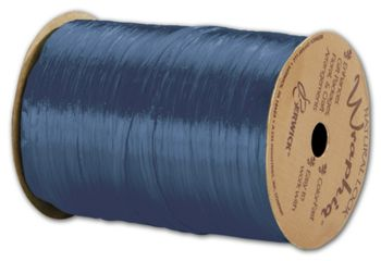 Pearlized Wraphia Royal Blue Ribbon, 1/4