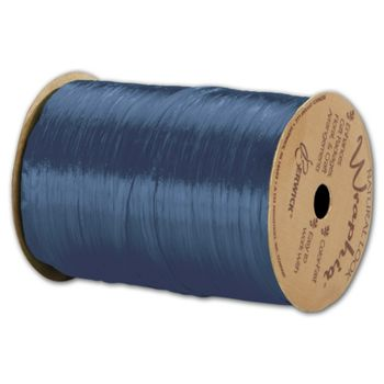 "Pearlized Wraphia Royal Blue Ribbon, 1/4"" x 100 Yds"