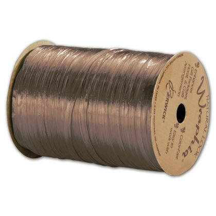 "Pearlized Wraphia Copper Ribbon, 1/4"" x 100 Yds"