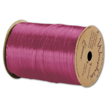 Pearlized Wraphia Hot Pink Ribbon, 1/4