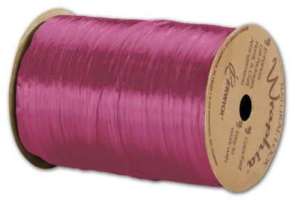 "Pearlized Wraphia Hot Pink Ribbon, 1/4"" x 100 Yds"