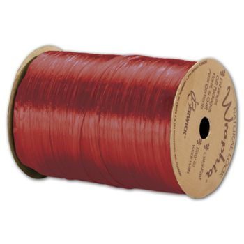 Pearlized Wraphia Red Ribbon, 1/4