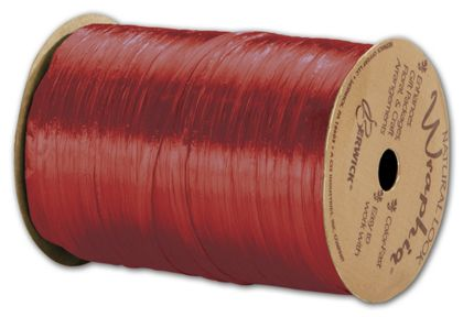 "Pearlized Wraphia Red Ribbon, 1/4"" x 100 Yds"