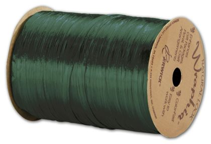 "Pearlized Wraphia Hunter Green Ribbon, 1/4"" x 100 Yds"
