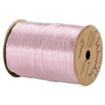 Pearlized Wraphia Pink Ribbon, 1/4