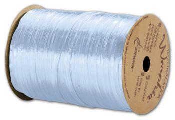 Pearlized Wraphia Light Blue Ribbon, 1/4