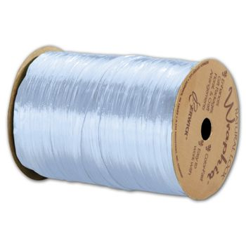 Pearlized Wraphia Light Blue Ribbon, 1/4
