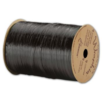 Pearlized Wraphia Black Ribbon, 1/4