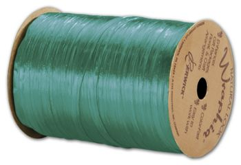 Pearlized Wraphia Teal Ribbon, 1/4